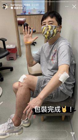 60岁庾澄庆骑车出意外晒绷带照 经纪人回应伤势