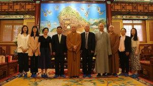 日本阿含宗驻北京事务所洪峰一行拜访中佛协