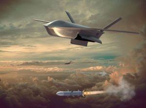 美国展示未来空战:无人机被发射后,自带导弹打击