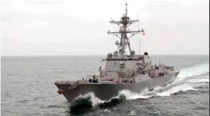美国真的激光战舰抵达中国周边!