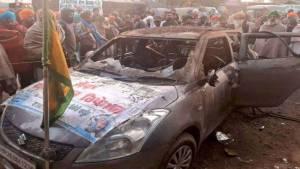 印度爆发农民起义,一抗议者被活活烧死