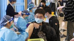 北京高校学生接种新冠肺炎疫苗