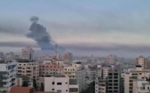 以色列国防军对哈马斯武装进行报复性打击