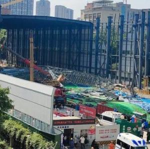 成都地铁在建工地发生垮塌事故 致4死14伤