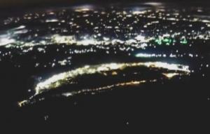 航天员从太空拍到台湾夜景