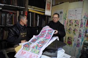 潘鲁生赴潍坊高密调研木版年画的传承、保护与发展