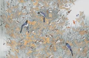 主题鲜明生动,彰显中和之美——评著名画家周莲荣的金奖作品《生态·睦》