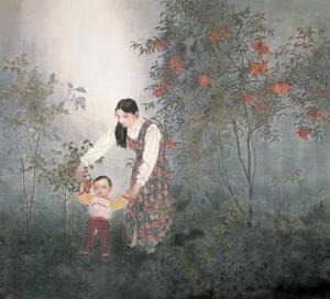 或清雅、或娴淑、或幽远、或纯真——观著名画家于文江笔下独具韵味的东方女性
