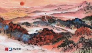 """著名画家泥宗峰驱车万余公里采风,作25米长卷""""重现""""长征路"""