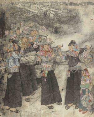 霓裳彩墨醉一场——著名画家徐惠泉笔下令人陶醉的江南媚娘与美景