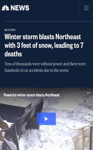 北美观察丨罕见暴风雪来袭 美国透支环境致天灾不断