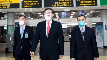 China's new Ambassador to the U.S. Qin Gang arrives to assume office