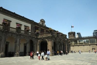 墨西哥国家历史博物馆中精美的中国扇