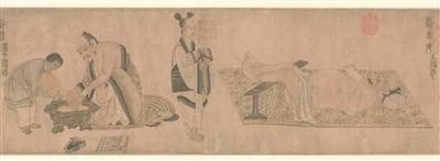 唐 陆曜 《六逸图》卷(局部) 故宫博物院藏