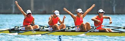 崔晓桐、吕扬、张灵、陈云霞夺得中国赛艇第二个奥运冠军—— 这一金 来之不易
