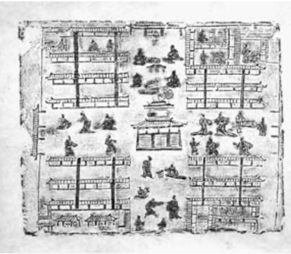 东汉《市井画像砖》。来源/网络