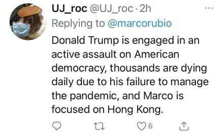 周庭当庭落下眼泪 美国反华议员卢比奥受不了了?