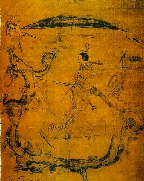 战国帛画《人物御龙图》(湖南省博物馆藏)