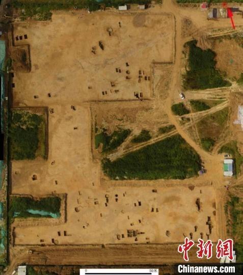 济南裴家营东南墓地发掘区全景。 济南市考古研究院供图