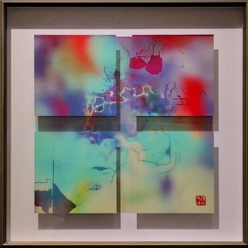 傅文俊综合媒介作品在2021威尼斯边界艺术展上展出
