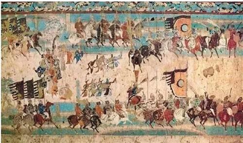 敦煌156窟的壁画《张议潮出行图》