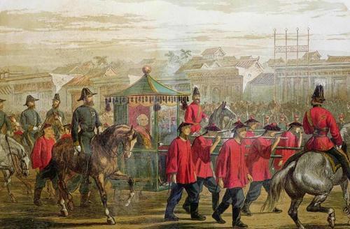 英法联军劫掠了圆明园,但放火焚烧的只有一支军队