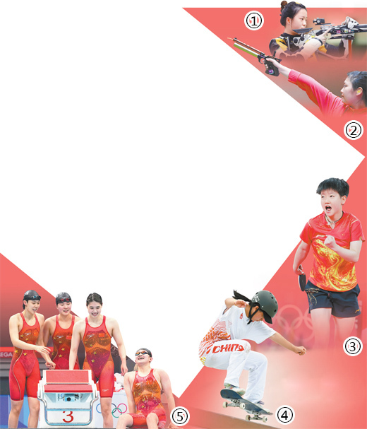 """赛场唱响青春之歌 中国""""00后""""选手 闪耀奥运舞台(奥运纵横)"""