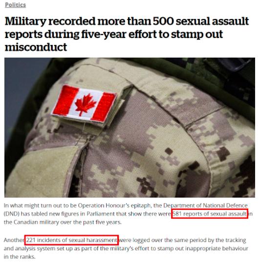 加拿大人权丑闻集中曝光:原住民惨遭迫害 军队里性侵成风