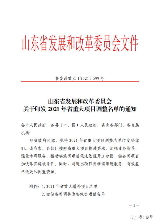 银丰医疗广场项目获批山东省2021年省级重大项目