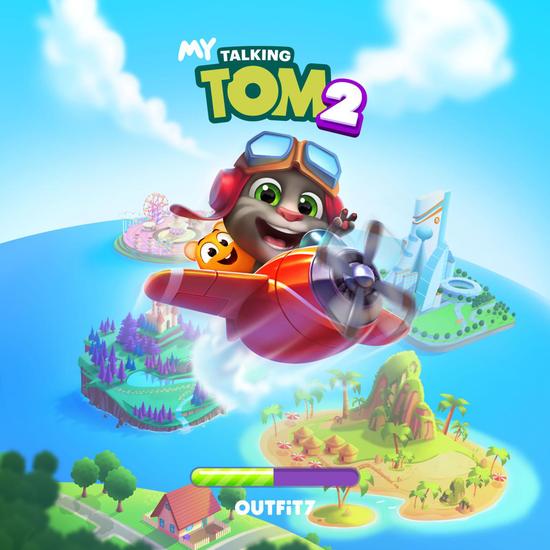 汤姆猫家族与vivo游戏中心线上线下破壁联动