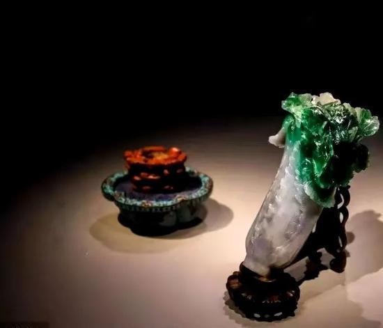 藏于台北故宫的翠玉白菜(图源:环球时报)