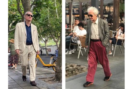 """上海街头,秦霄和他的""""老年时装俱乐部"""""""