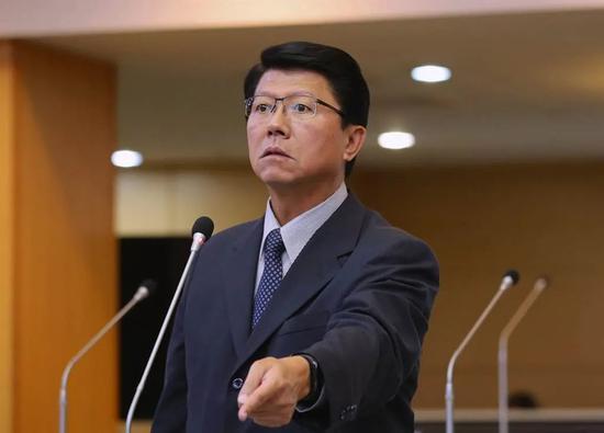 台南市议员谢龙介资料图。图源:中时