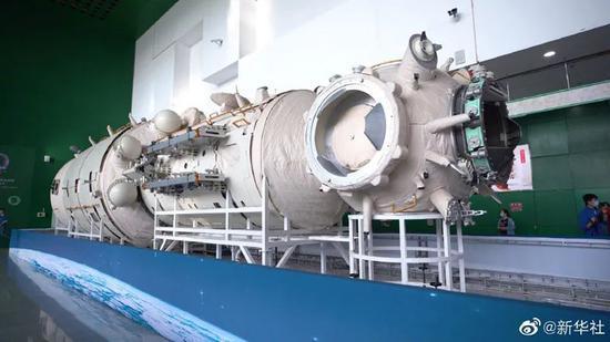 核心舱1:1实物验证件(图源:新华社)