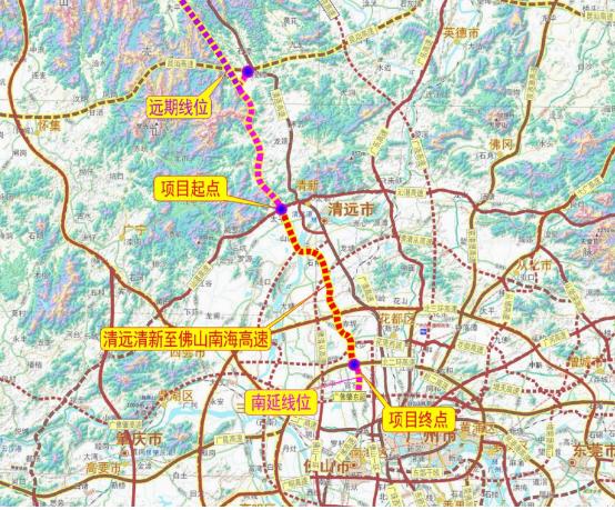 清远清新至佛山南海高速公路项目计划年底开工 路线全长54.015km