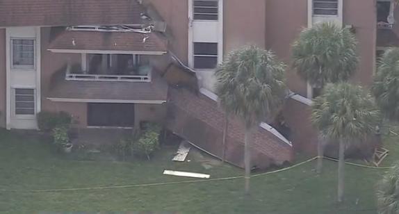 美国佛州迈阿密再现危楼 40天内两处屋顶坍塌