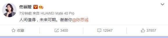 佟丽娅陈思诚520离婚:人间值得未来可期,换种身份守护?
