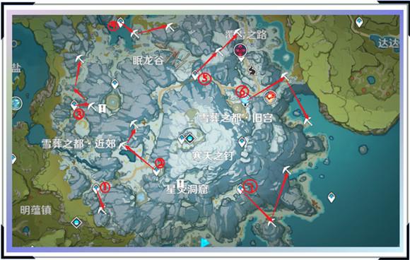 原神星银矿石位置分布和采集路线介绍