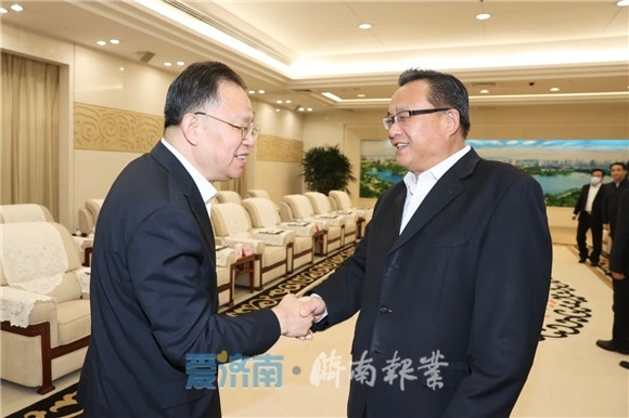 孙述涛会见中国铁建党委书记、董事长汪建平一行