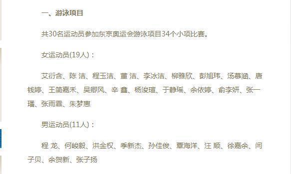 中国游泳队公布东京奥运名单 奥运冠军叶诗文无缘东京赛场