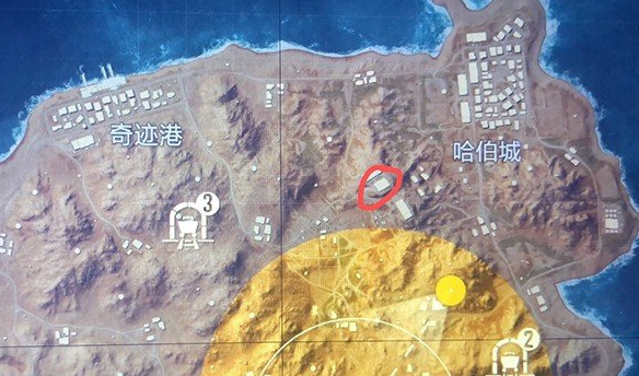 和平精英黄金岛写名字的墙在哪