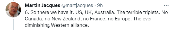 """马丁·雅克连发8推:""""西方正在打一场败仗"""",西方需要与中国架起桥梁,而不是筑起高墙"""