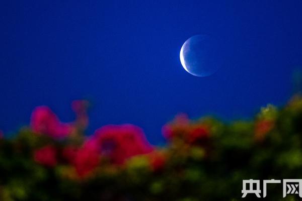 """""""月食""""+""""超级月亮""""现夜空"""