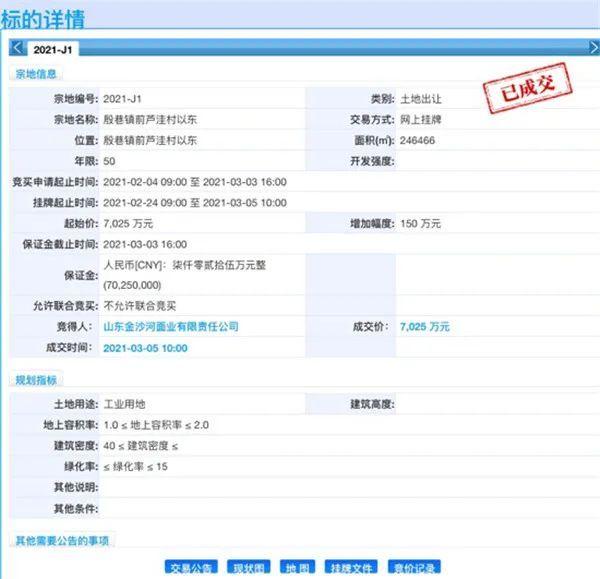 济南市首宗农村集体经营性建设用地成交,总价7025万元