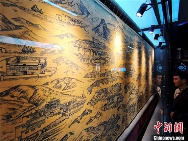 图为历代藏医药学教育机构展示