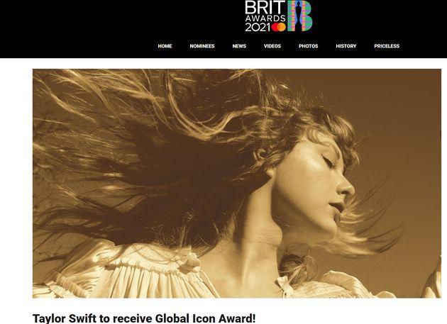 霉霉获全英音乐奖最高荣誉 成首位获该奖女星