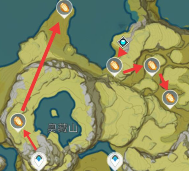 原神石珀快速采集路线分享