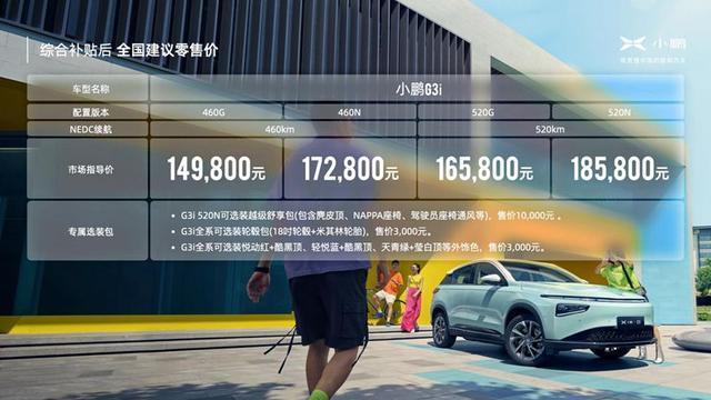 小鹏G3i智·潮上市:售价14.98万元起 持续进化引领智能体验
