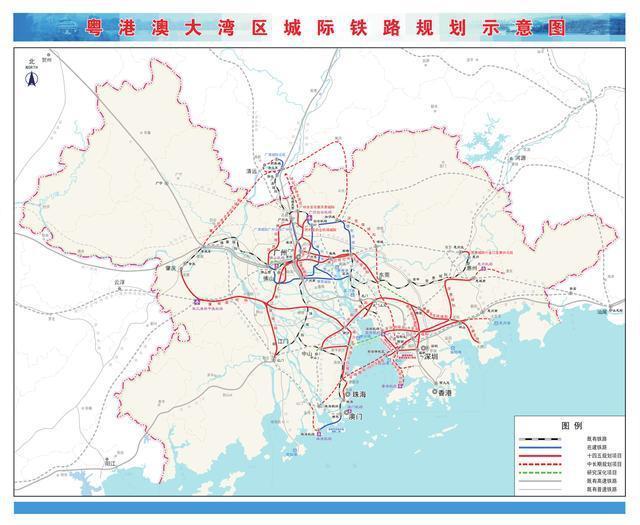 广东30条城际铁路最新动态:干线铁路总投资6545.2亿元 枢纽联络线3条