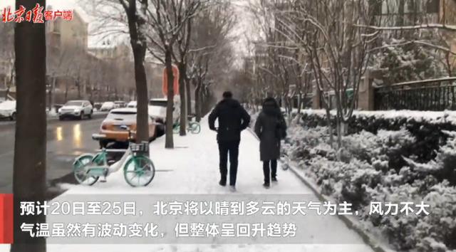 冬日的惊喜!2021年第一场雪,北京地面开始见白